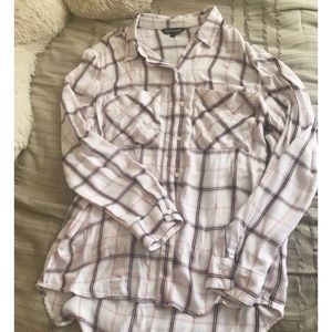Express High Low Long Sleeve Flannel